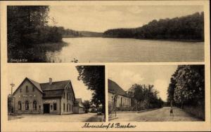 Ak Ahrensdorf Rietz Neuendorf Brandenburg, Seepartie, Gasthof Fünfhausen, Dorfpartie
