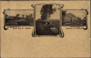 Jugendstil Ak Lubolz Lubolce Lübben im Spreewald, Gasthaus von Domeng