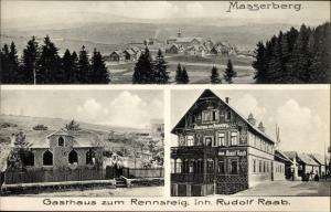 Ak Masserberg im Thüringer Schiefergebirge, Gasthaus zum Rennstein, Inh. Rudolf Raab