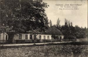 Ak Großmonra Kölleda Thüringen, Gasthaus Zum Kammerforst, Inh. Hermann Schwarz