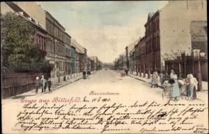Ak Bitterfeld in Sachsen Anhalt, Kaiserstraße, Straßenpartie, Passanten