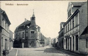 Ak Vetschau Spreewald Brandenburg, Bahnhofstraße, Schneidermeister Paul Dubiel