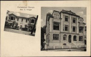 Ak Ostseebad Bansin Heringsdorf auf Usedom, Villa Carola, Villa Helene, Bes. C. Krüger
