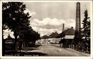Ak Strasburg in der Uckermark, Jüteritzer Straße, Schornstein