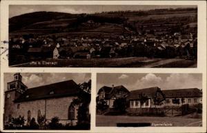 Ak Ifta Thüringen, Totalansicht, Kirche, Zigarrenfabrik