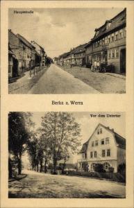 Ak Berka Werra Thüringen, Hauptstraße, Vor dem Untertor