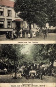 Ak Dahlewitz Blankenfelde Mahlow Brandenburg, Gasthof von Paul Behling, Gartenansicht