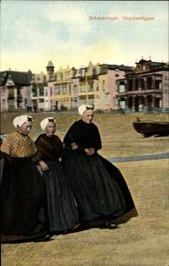 Ak Scheveningen Den Haag Südholland, Visscherstypen, Fischersfrauen
