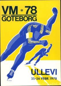 Ak Göteborg Schweden, Eiskunstlauf Weltmeisterschaft 1978, Ullevi Stadion