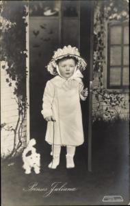 Ak Prinzessin Juliana der Niederlande, Hund