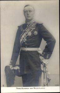 Ak Prinz Hendrik der Niederlande, Uniform
