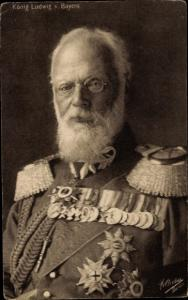 Ak König Ludwig III. von Bayern, Portrait