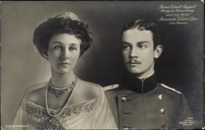 Ak Herzog Ernst August von Braunschweig, Prinzessin Victoria Luise von Preußen