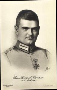 Ak Friedrich Christian von Sachsen, Portrait, Uniform, Photochemie Berlin 3207