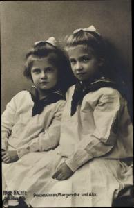 Ak Prinzessinnen Margarethe und Alix von Sachsen