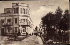 Ak Alcazar Algerien, Plaza Espana