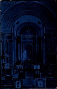 Ak Maklar Ungarn, Kirche, Tempel, Innenansicht, Blau