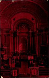 Ak Maklar Ungarn, Kirche, Tempel, Innenansicht, Rot
