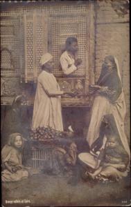 Ak Cairo Kairo Ägypten, Orange Sellers, Kinder
