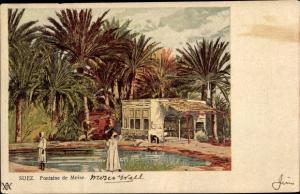 Litho Suez Ägypten, Fontaine de Moise