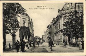 Ak Lissa Leszno Poznań Posen, Kaiser Wilhelm Straße, Postamt