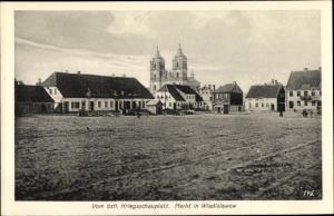 Ak Władysławów Wladislawow Polen, Markt, östlicher Kriegsschauplatz