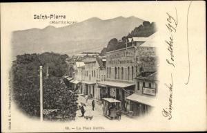 Ak Saint Pierre Martinique, La Place Bertin