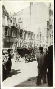 Ak Warszawa Warschau Polen, Einen Tag nach Bombardierung, II. WK, World's Fair of 1940