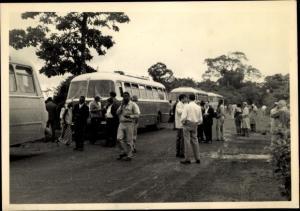 Foto Ak Kindia Guinea, Manifestation, Autobus