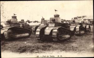 Ak Parc de Tanks, Französische Panzer