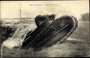 Ak Camp de Mailly, Tank en manoeuvre, Französische Panzer