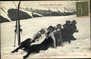 Ak Luchon Haute Garonne, Sports d'Hiver, Plateau de Superbagneres, Bobsleigh, Bobschlitten