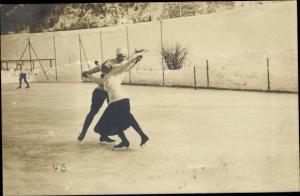 Foto Ak Sport d'Hiver, Eiskunstläufer