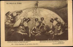 Künstler Ak Ou peut il etre, Französische Heeresleitung sucht den deutschen Feind, Karikatur
