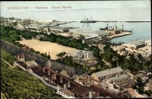 Ak Alameda Gibraltar, Grand Parade, Harbour