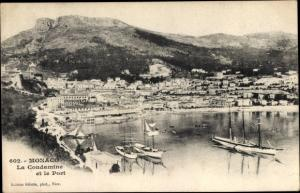 Ak La Condamine Monaco, Le Port, Segelboote