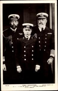 Ak Poträt Prince of Wales, King Edward VII., Prince Edward