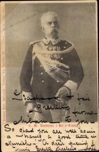 Ak Poträt König Umberto I. König von Italien