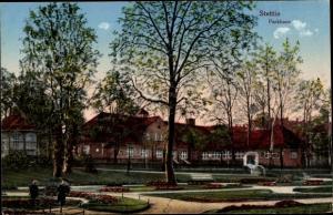 Ak Szczecin Stettin Pommern, Parkhaus