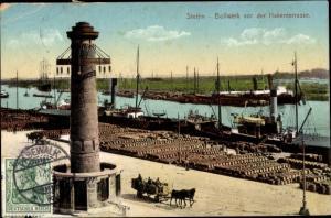 Ak Szczecin Stettin Pommern, Bollwerk vor der Hakenterrasse