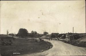 Foto Ak Swinka, Straßenpartie, östlicher Kriegsschauplatz I. WK