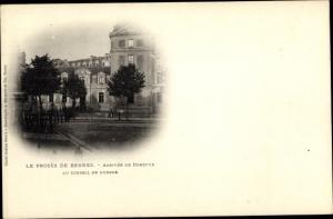 Ak Le Procès de Rennes, Arrivée de Dreyfus au Conseil de Guerre