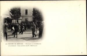 Ak Le Procès de Rennes, Dreyfus Affäre, Les Cartons de M. Bertillon