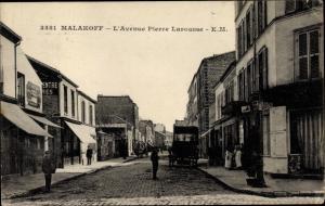 Ak Malakoff Hauts de Seine, L´Avenue Pierre Larousse