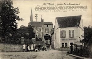 Ak Cézy Yonne, Ancienne Porte