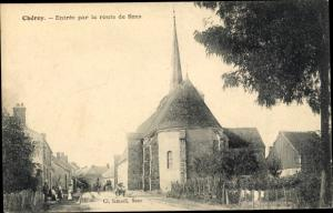 Ak Cheroy Yonne, Entree par la route de Sens