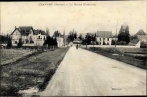 Ak Cravant Yonne, La Route Nationale