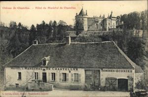 Ak Chastellux sur Cure Yonne, Chateau, Hotel du Marechal