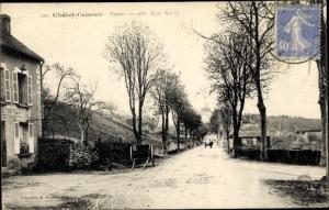 Ak Chatel Censoir Yonne, Entree en ville