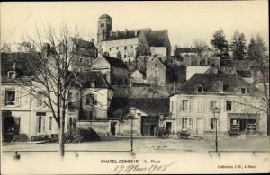 Ak Chatel Censoir Yonne, La Place